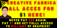 Creative Fabrica All Access Subscription $1